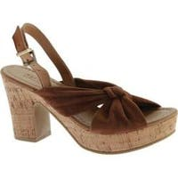 Women's Kenneth Cole Reaction Tole Booth Heel Sandal Tan Suede