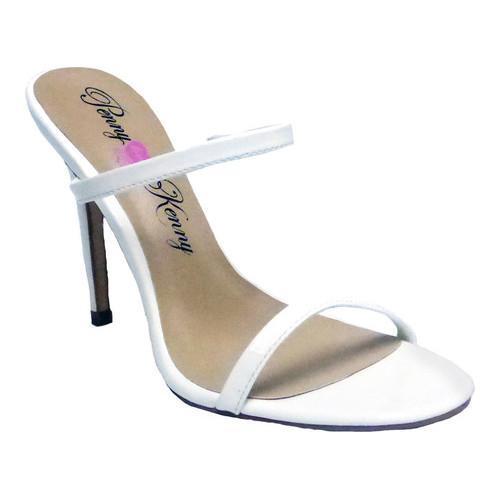 Women's Penny Loves Kenny Derby Stiletto Slide White Patent Polyurethane