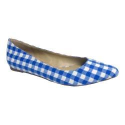 Women's Penny Loves Kenny Aaron II Dress Flat Blue/White Gingham Fabric