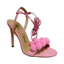 Women's Penny Loves Kenny Darling Pom Pom Sandal Pink Suede Polyurethane