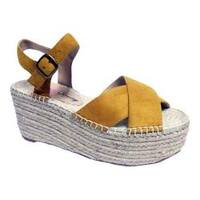 Women's Penny Loves Kenny Friend Platform Wedge Sandal Tan Microsuede
