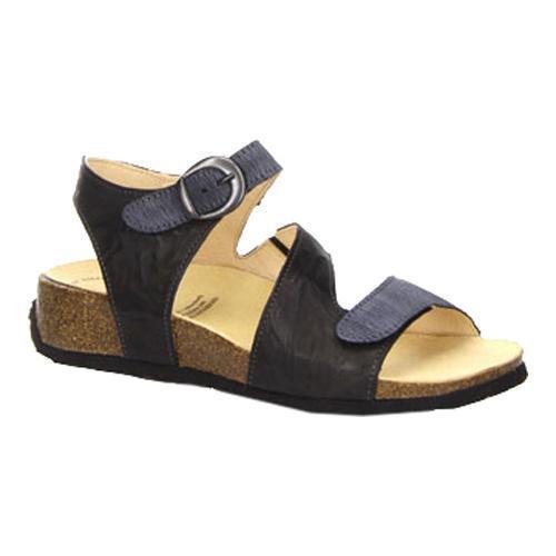 1cbdf5c3ccbd Shop Women s Think! Mizzi 80359 Strappy Slingback Black Leather - Free  Shipping Today - Overstock.com - 14477459