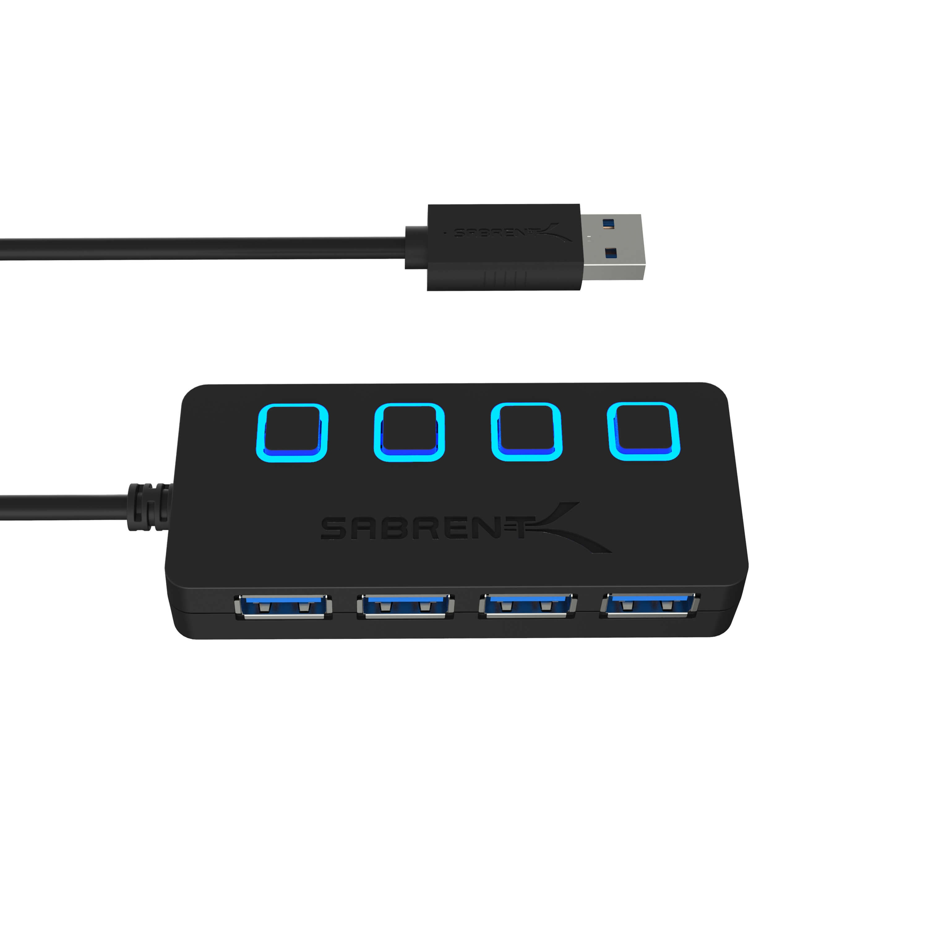 Sabrent 4-Port USB 3.0 Hub With Power Adapter