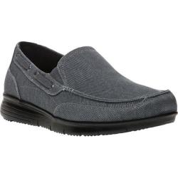 Men's Propet Sawyer Slip On Shoe Grey Canvas
