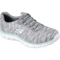 Women's Skechers Relaxed Fit Empire Game On Walking Shoe Gray/Light Blue