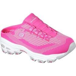 Women's Skechers D'Lites A New Leaf Sneaker Clog Hot Pink