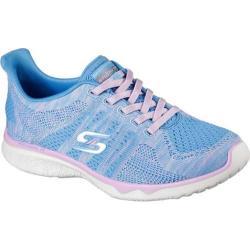 Women's Skechers Studio Burst Edgy Walking Sneaker BluePink