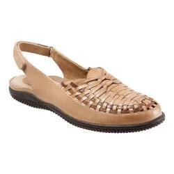 Women's SoftWalk Harper Huarache Sandal Beige/Tan Soft Leather