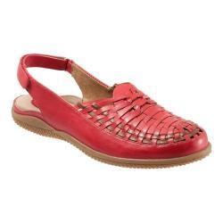 Women's SoftWalk Harper Huarache Sandal Red/Tan Soft Leather