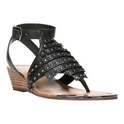 Women's Fergie Footwear Balance Wedge Sandal Black Leather