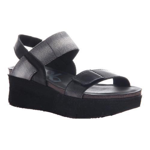 2e6d6d9c95d Shop Women s OTBT Nova Platform Sandal Black Leather Textile - Free  Shipping Today - Overstock - 14498118