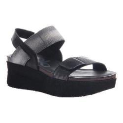 Women's OTBT Nova Platform Sandal Black Leather/Textile