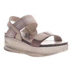 Women's OTBT Nova Platform Sandal Silver Leather/Textile