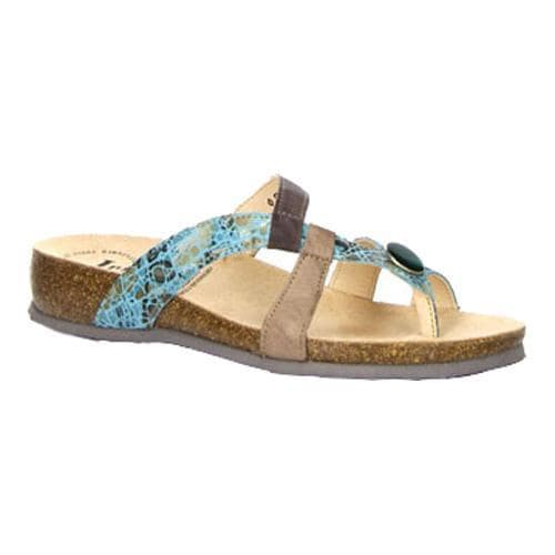 489aab7b2654 Shop Women s Think! Julia 80335 Toe Loop Sandal Turquoise Leather - Free  Shipping Today - Overstock - 14498124