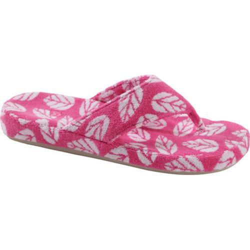 47168c045e74 Shop Women s Acorn Summerweight Spa Thong Slipper Azalea Leaf - Free  Shipping On Orders Over  45 - Overstock - 14508636