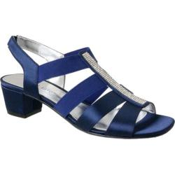 Women's David Tate Eve Jeweled Sandal Navy Satin (More options available)
