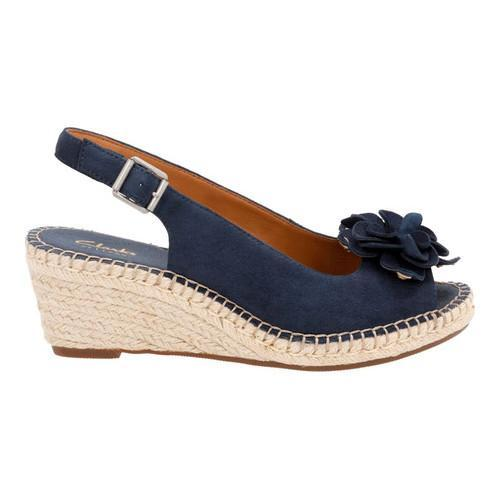 dd69ab27a65f Shop Women s Clarks Petrina Bianca Espadrille Slingback Navy Goat Suede - Free  Shipping Today - Overstock - 14432328