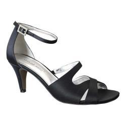 Women's David Tate Gaze Ankle Strap Sandal Black Satin