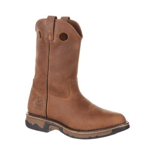 Men's Georgia Boot Carbo-Tec Non-Metallic Pull-on Boot Light Brown Leather