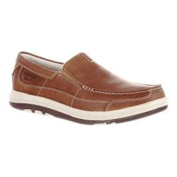 Men's Georgia Boot Tybee Island Non-Metallic Moc Toe Loafer Brown Leather