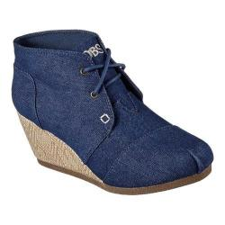 Women's Skechers BOBS High Notes Take Two Wedge Bootie Denim