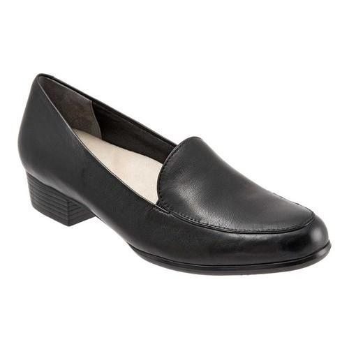 Women's Slip Ons Loafers/Trotters Gloria Mocha Soft Kid