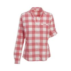 Women's Woolrich Day Pack Convertible Shirt Teaberry Check