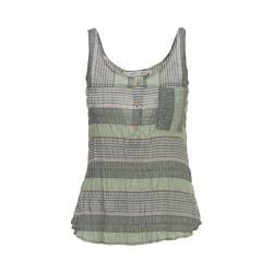 Women's Woolrich Spring Fever Eco-Rich Tank Balsam Green Stripe