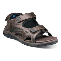 Men's Nunn Bush Mojave Sandal Brown Synthetic Crazy Horse