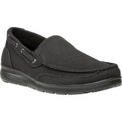 Men's Propet Sawyer Slip On Shoe Black Canvas