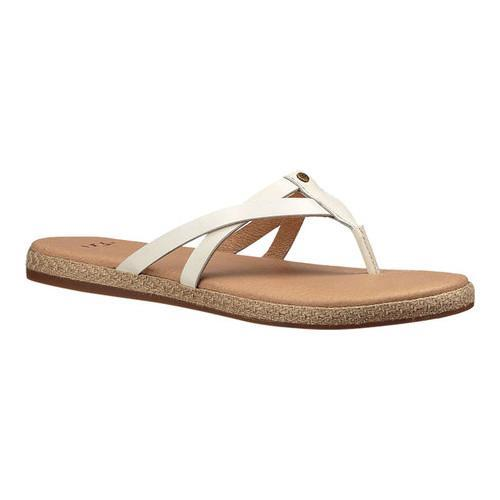 b3975a5bf33 Shop Women s UGG Annice Thong Sandal White Leather - Free Shipping On  Orders Over  45 - Overstock - 14529583