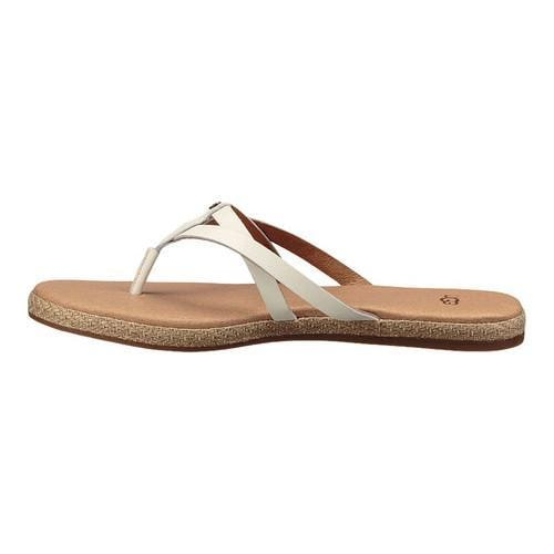 3d98b71462f Shop Women s UGG Annice Thong Sandal White Leather - Free Shipping ...