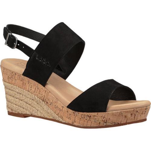 808491c7d8eb Shop Women s UGG Elena Wedge Sandal Black Nubuck - Free Shipping ...