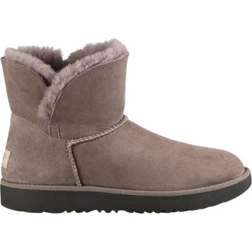 UGG CLASSIC CUFF MINI - Classic ankle boots - stormy grey VW1mryE