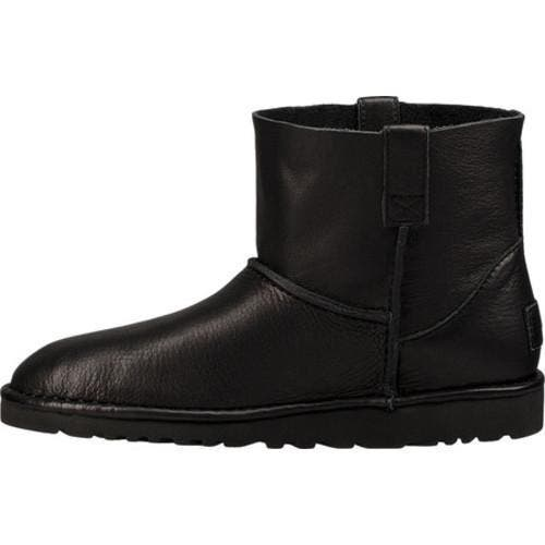 8b0f6702f4d Women's UGG Classic Unlined Mini Leather Black Leather | Overstock.com  Shopping - The Best Deals on Boots