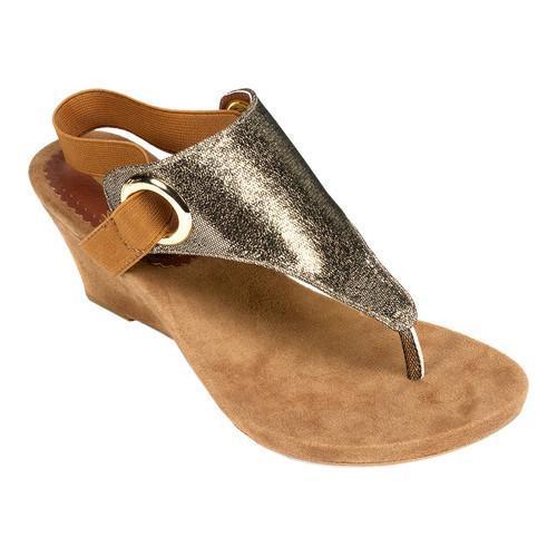 Women S White Mountain Aida Thong Wedge Sandal Antique