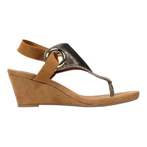Shop Women S White Mountain Aida Thong Wedge Sandal