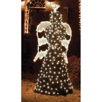 6.5' Giant Commercial Grade LED Lighted Angel Topiary Yard Art Christmas Decoration