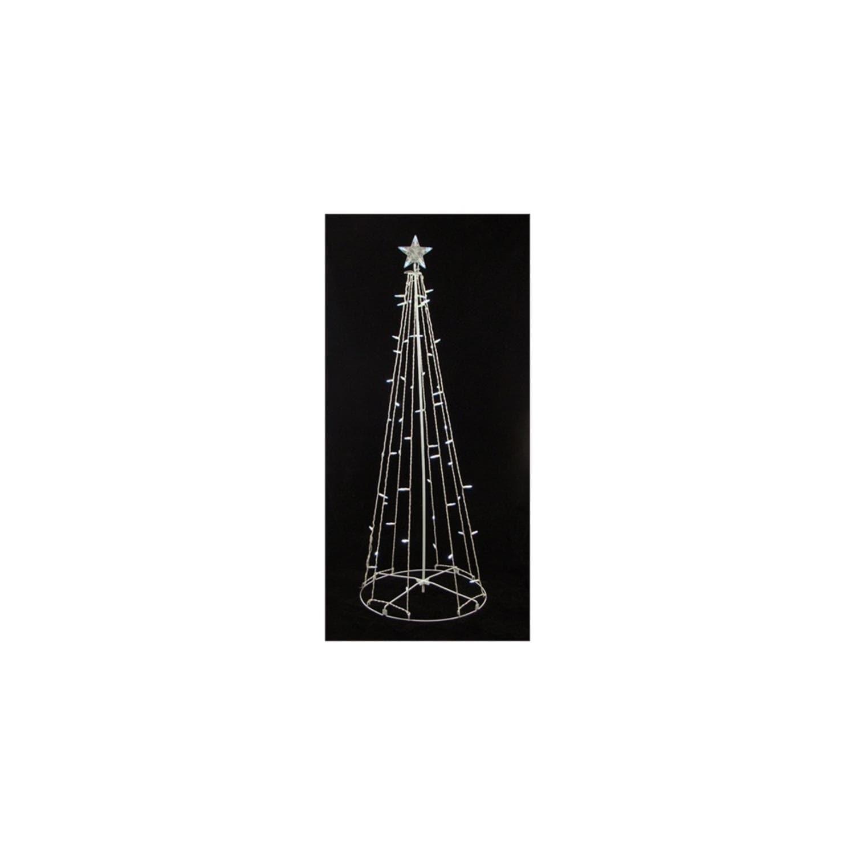 Sienna 9' Lighted Outdoor Christmas Cone Tree Yard Art De...