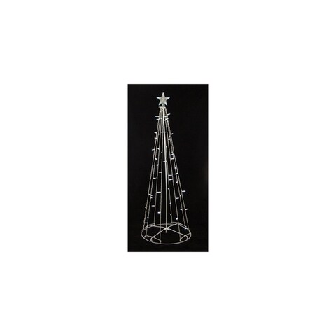 9' Lighted Outdoor Christmas Cone Tree Yard Art Decoration - Clear Lights