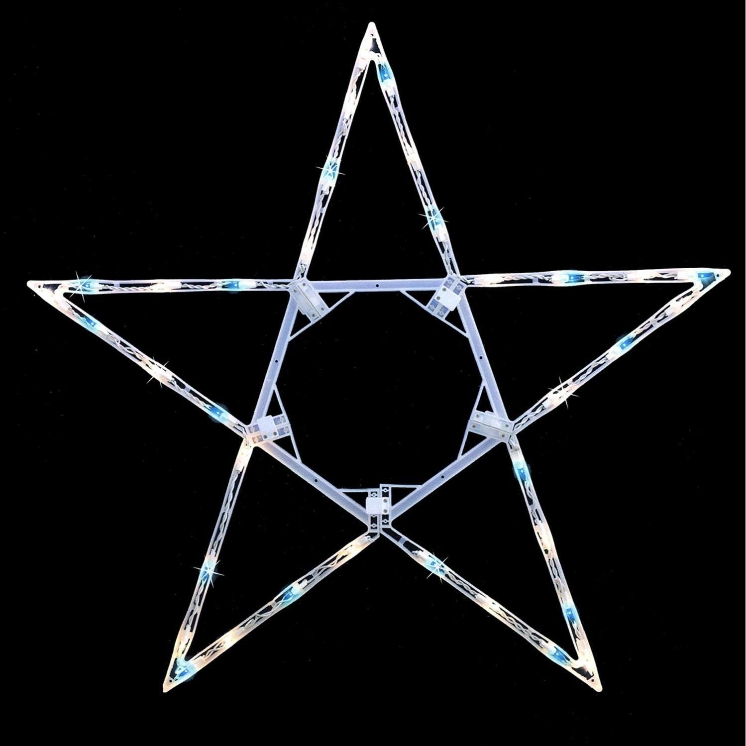 "Sienna 32"" Folding Lighted Twinkling Star Christmas Windo..."