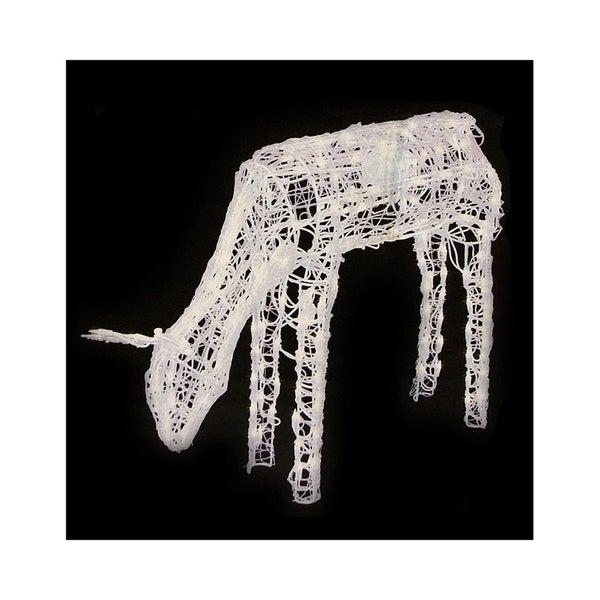 "Shop 42"" 3-D Glitter Animated Feeding Doe Reindeer Lighted"