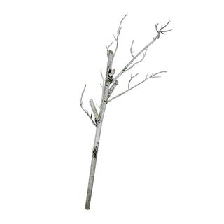 "38"" White Decorative Artificial Crafting or Display Birch Tree Trunk"