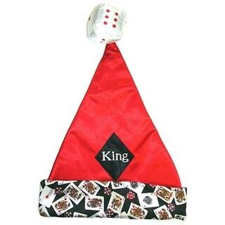 "15"" Casino Gambling ""King"" Of Diamonds Santa Hat - Size Medium"