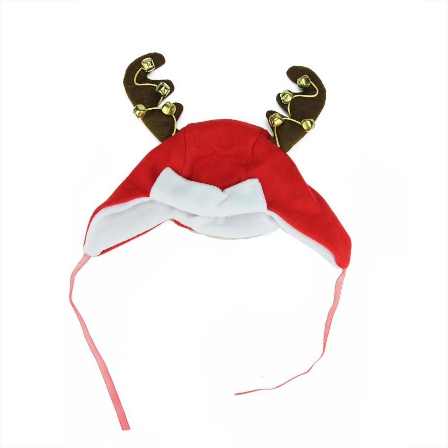 "17"" Plush Red and White Christmas Winter Trapper Hat with..."