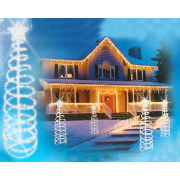 6 multi color lighted outdoor spiral christmas tree yard art 6x27 multi color lighted outdoor spiral christmas tree yard art decoration aloadofball Images