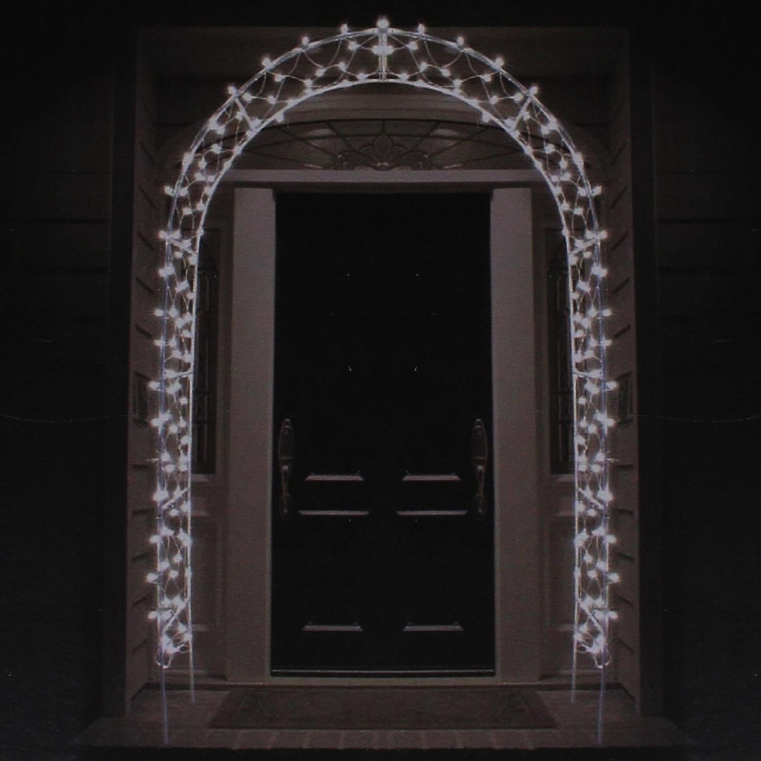 Sienna 8' Lighted Entryway Front Door Archway Christmas Y...