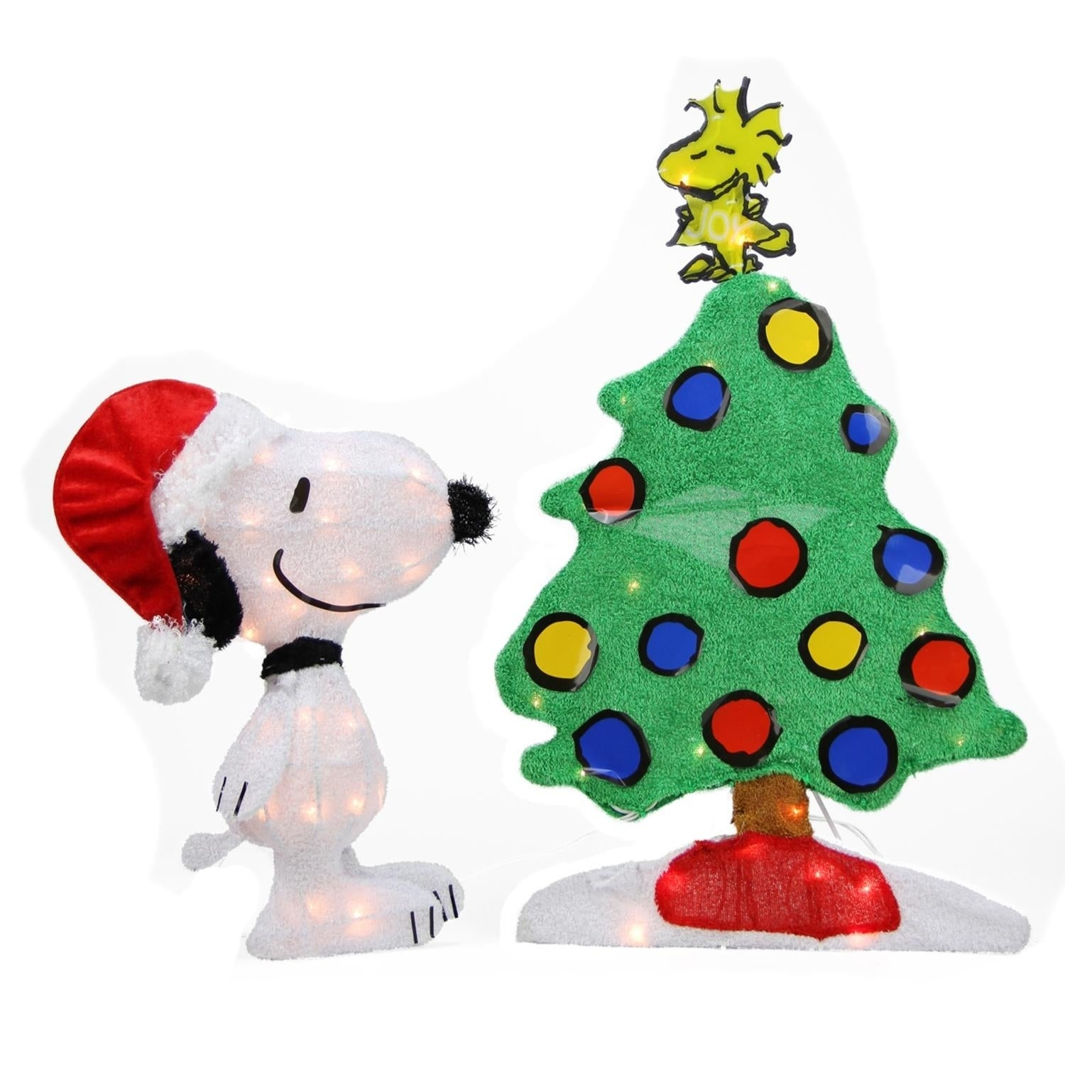 """Sienna 24"""" Pre-Lit 2-D Peanuts Snoopy and Christmas Tree ..."""