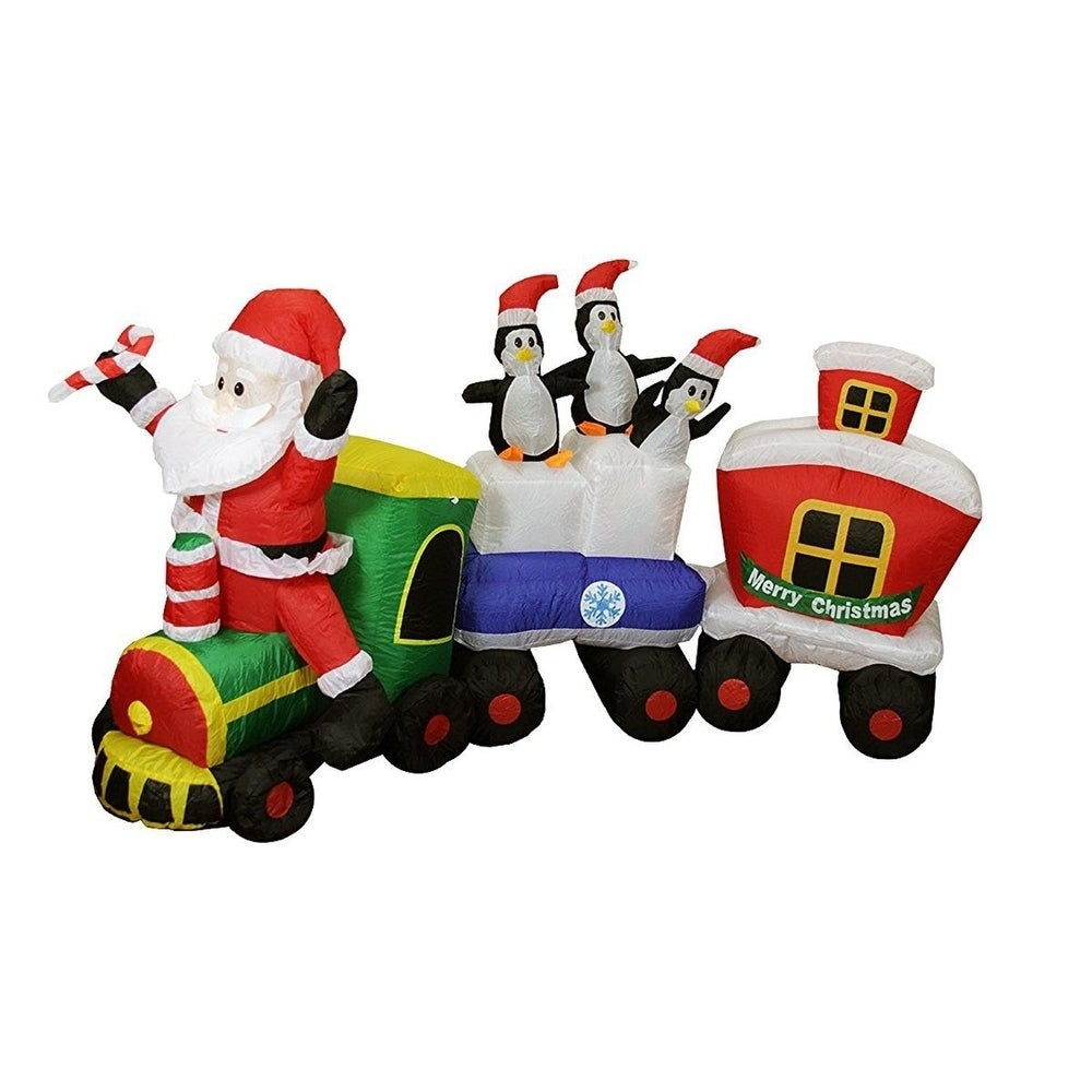 Lb International 82 Inflatable Lighted Santa Express Trai...