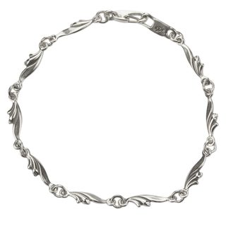 Handcrafted Sterling Silver 'Petite Garland' Bracelet (Mexico)